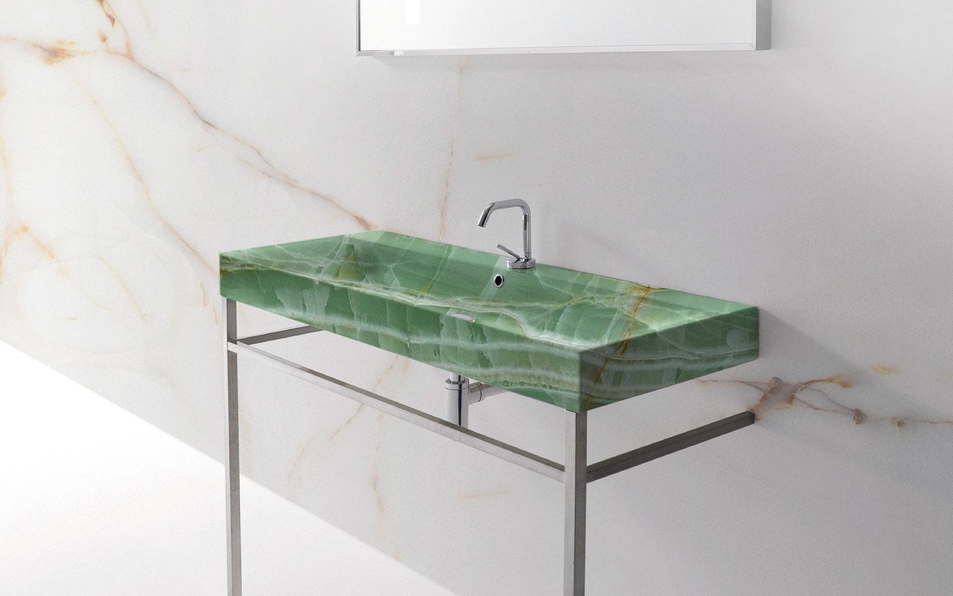 Lavabo in Onice verde
