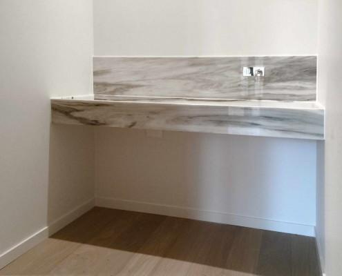 Cucina lavandino in marmo New Zebrino