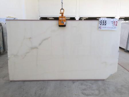 Onice Bianco Puro AG 555 slab 12 314 x 170 x 2 cm (Medium)